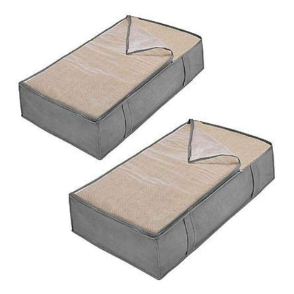 Essential Home Non-Woven Set of 2 Under-Bed Bags - Gray