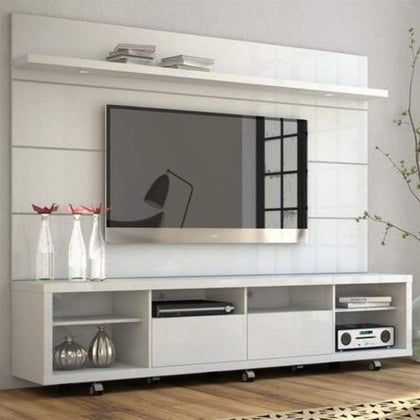 Manhattan Comfort Cabrini 2.2 Series 85 TV Stand and Panel in White