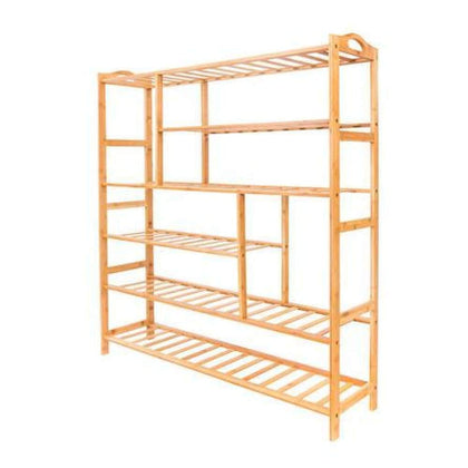Winado 6 Tiers Bamboo Shoe Boot Shelf Holder Storage Rack Organizer Furniture Entryway