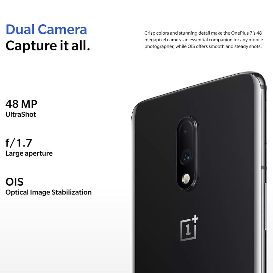 2019 New OnePlus 7 Android 9.0 Mobile Phone 8GB 256GB Snapdragon855 Octa core 6.412340x1080p 19.5:9 Fullscreen 3700mAh NFC 48MP