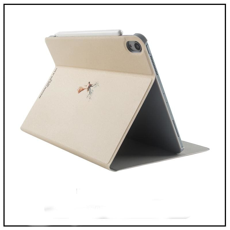 Tablet Leather Case iPad Leather Stand Simple Art Leather Case