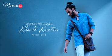 Trendy Ways Men Can Wear Khadi Kurtas All Year Round