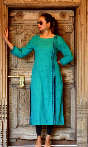 ac657995a8 Check out our designer khadi kurtis for women, they are super comfy and  stylish at the same time.