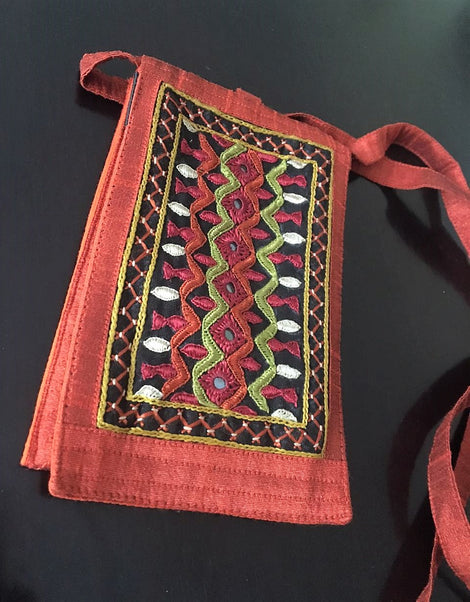 Hand embroidered Mobile Pouch-Design6