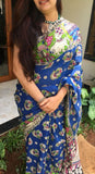 Blue Kalamkari Saree