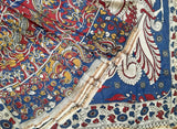 Blue All Over Design Kalamkari Saree