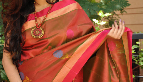 Double Toned Khadi Soft Silk Saree