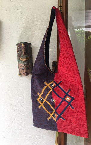 Red & Blue Sling Bag 2