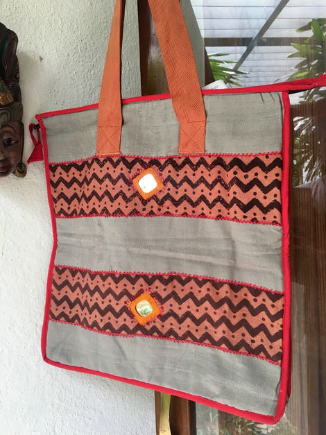 Cotton Patch Work Bag