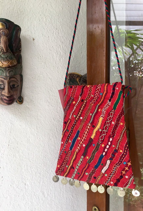 Maroon Color Batwa with Coins