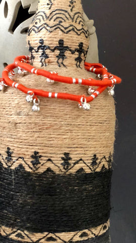 Orange gungroo Anklets