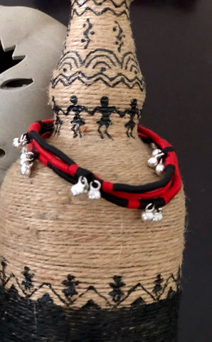 Black with Red gungroo Anklets