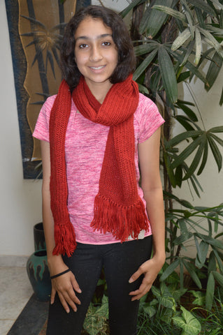 Red Mesh Scarf