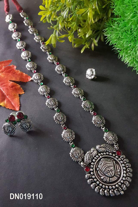 Vintage Durgama long Haram set with earring and nosepin