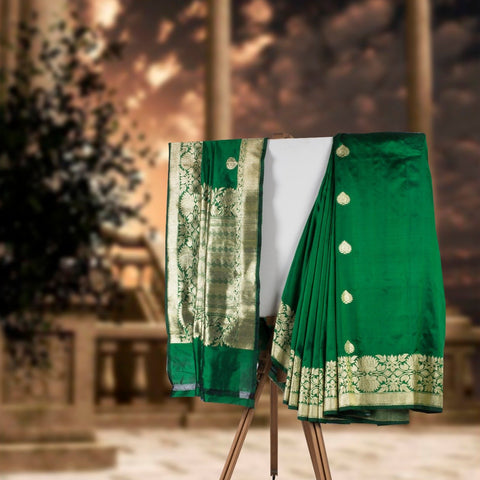 Green Banaras Silk Saree