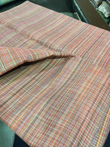 Multicoloured khadi cotton fabric