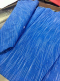 Blue khadi cotton fabric