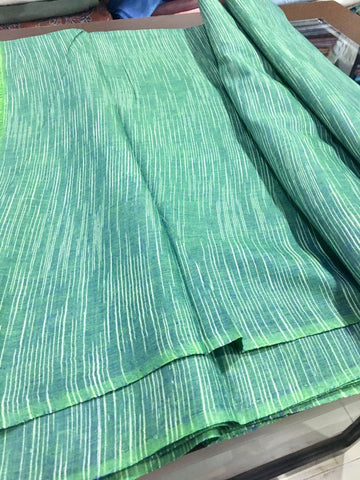 Green khadi cotton fabric