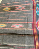 Grey pochampally cotton Saree