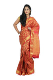 Kanchevaram silk saree with rich Zari