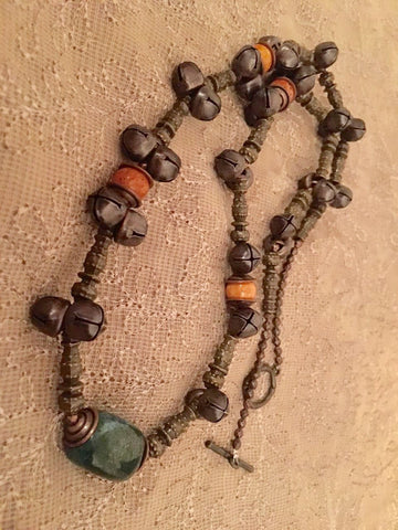 Bronze finished casual necklace