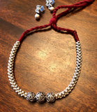 Small Beads with german silver neckpiece