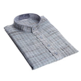 Grey with Black Stripes Long Khadi Kurta for Men
