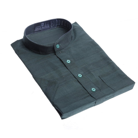 Dark Green Khadi Kurta for Men
