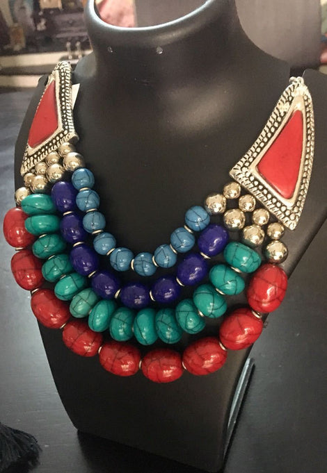 Multicolor Natural Stone Neckpiece