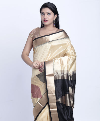 Off-White Khadi Silk Saree