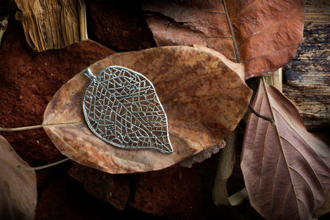 Leaf Antique Silver Pendant