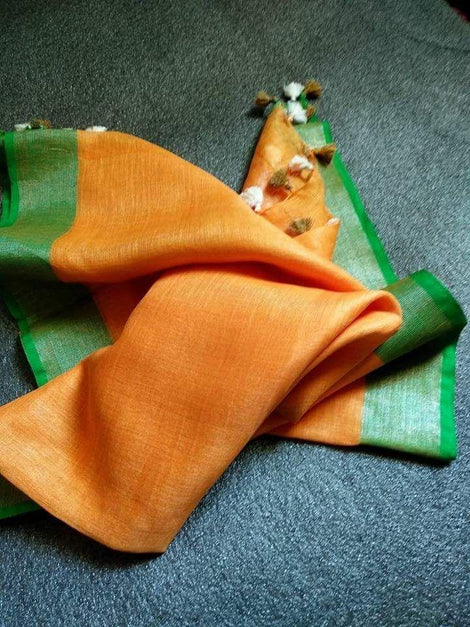 Mustard Yellow with Green Dupatta
