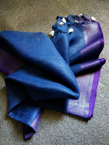 Blue with Lavendar Dupatta