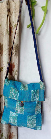 Blue Patchwork Jhola /Sling Bag