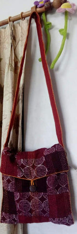 Brick Red Patchwork Jhola /Sling Bag