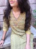 Olive Green color handloom Ilkal Kurti