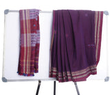 Purple Handloom Cotton Ilkal Saree