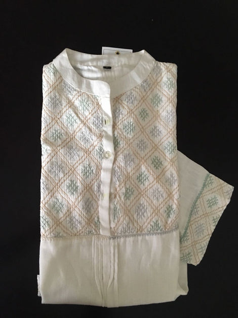Cream color Khadi Kurti