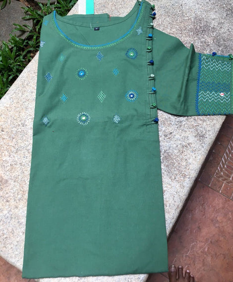 Sea Green color Kurta