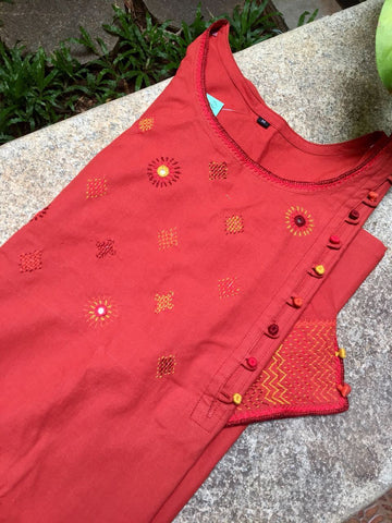 Rust color Kurta