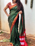 Green Color Ilkal Saree