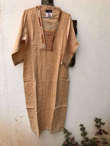 Light Orange thread work kurta