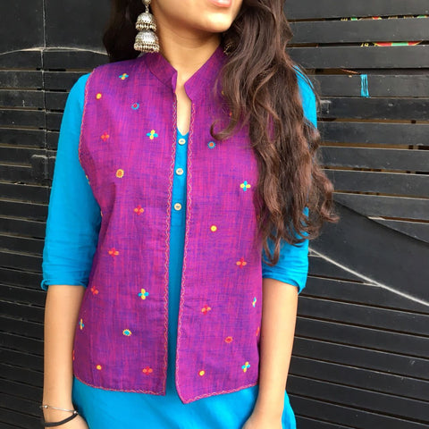 Violet Cotton Jacket