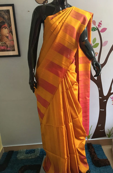 Double toned kanchi soft silk saree