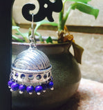 Dome German Silver Jhumkas