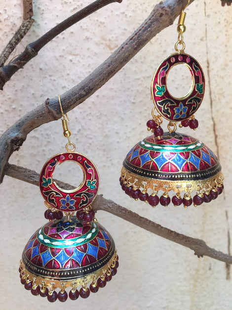 Multi Colour Jhumka