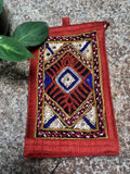 Hand embroidered Mobile Sling Pouch-Design7
