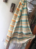 Half white with Multi color Dupatta