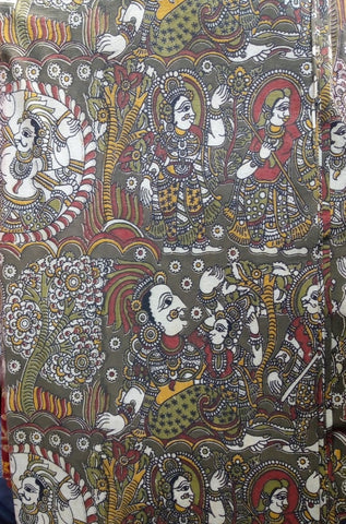 Kalamkari cotton fabric-3