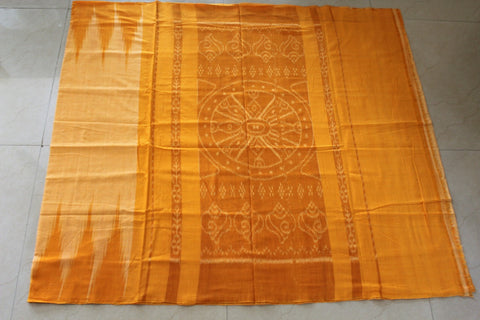 Mustard Kargil Cotton Saree